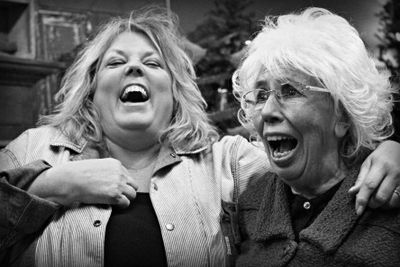 Friends laughing