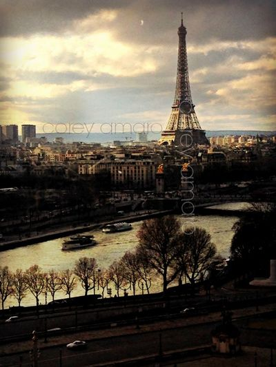 Corey Amaro Photograph Eiffel Tower view from the Ferris Wheel