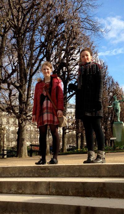 In Paris making faces