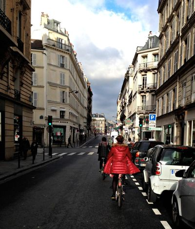 Riding bikes in Paris