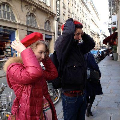 Red beret paris