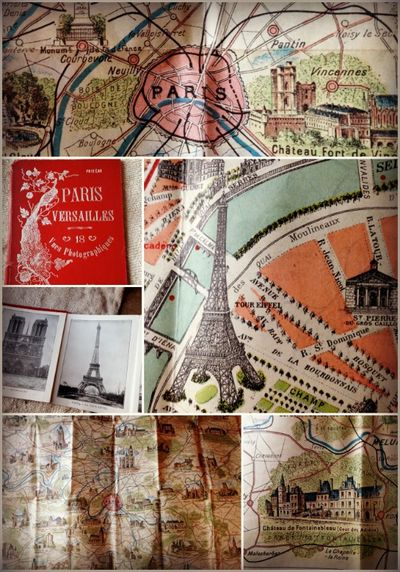 Paris Map Books 1900s
