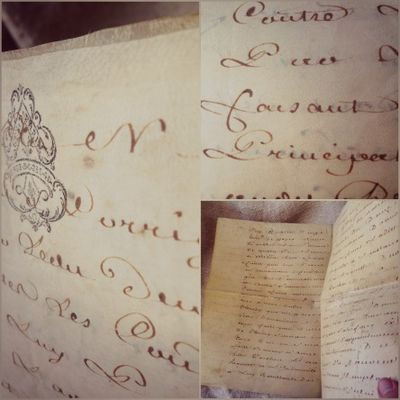 1700 parchment paper French Document
