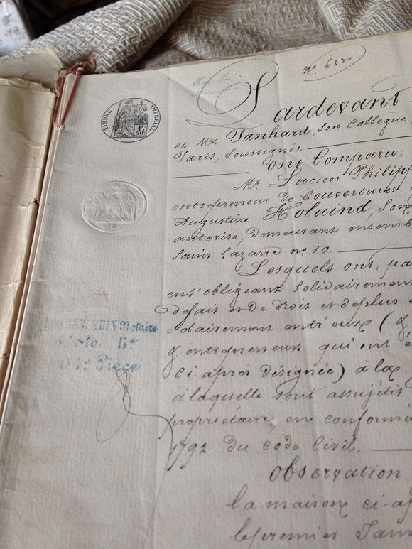 1866 French Document Booklet