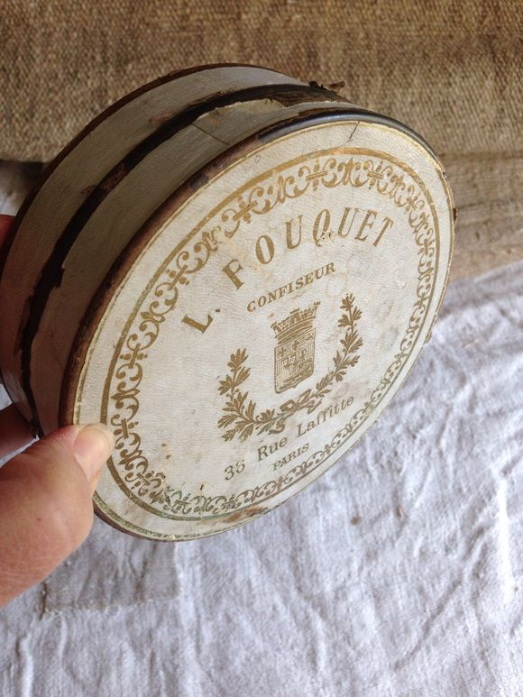 Brocante Metal Candy Tin Paris