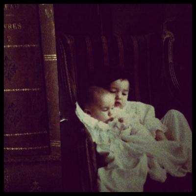 Chelsea and Sacha as babies