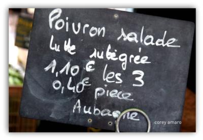 French market chalk board