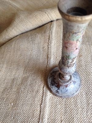 Wooden  Faded Painted Vase