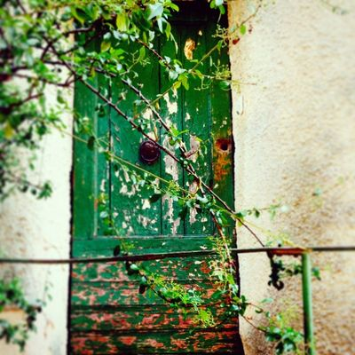 Green door back street France