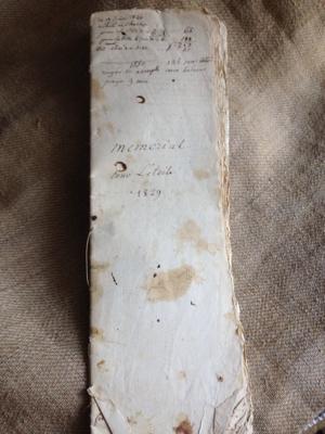 1829 to 1840 Handwritten Account