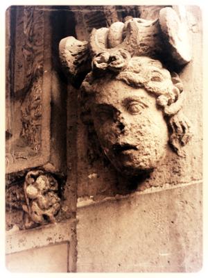 Angel detail facade Paris