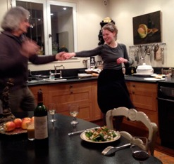 Dancing instead of doing the dishes