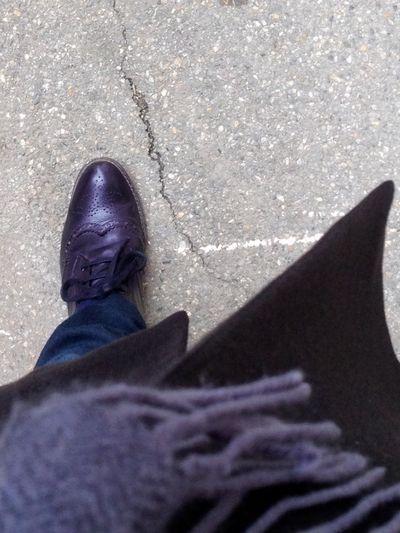 Black brogue shoes