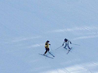 The first go around on skis