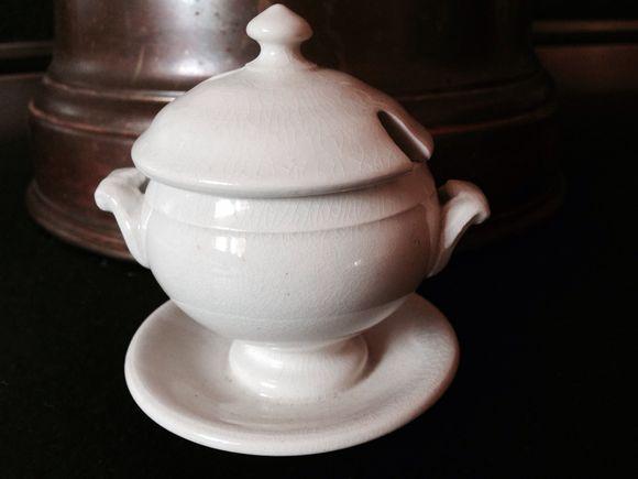 1900s Ironstone Child's Soup Tureen