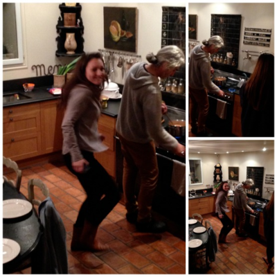 Dancing in the kitchen again