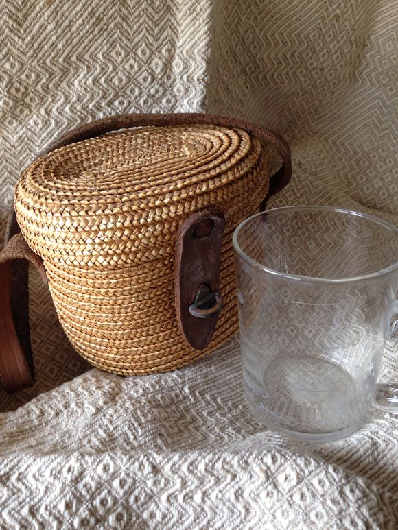 Vichy Water Glass and Basket