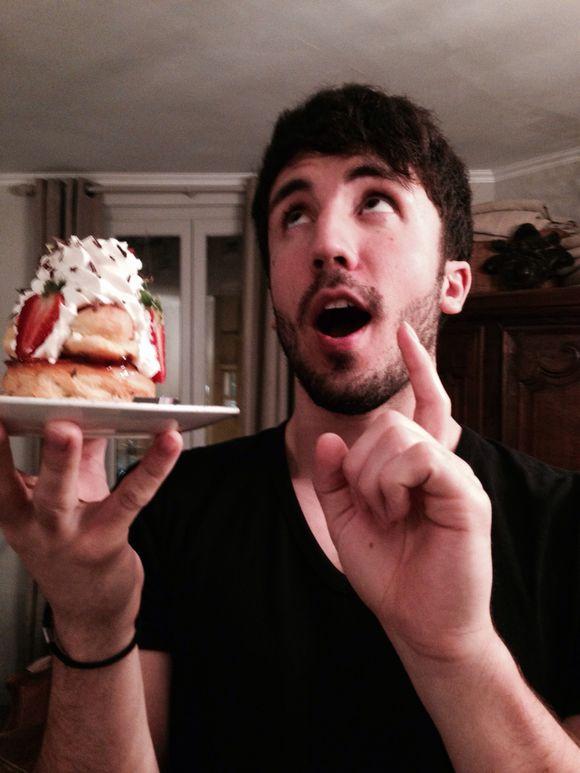 Sacha and His Dessert