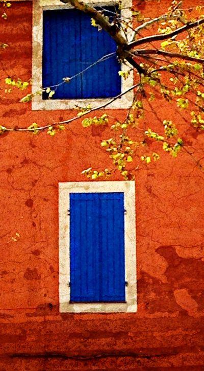 Provence blue and orange