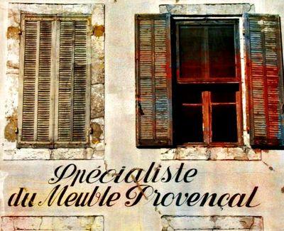 Provencal facade red shutter