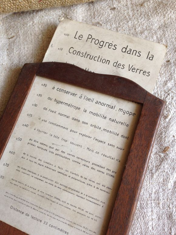French Brocante Curiosity Eye Chart