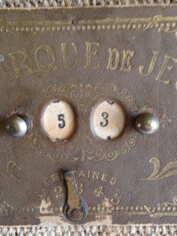 French Antique Game Counter