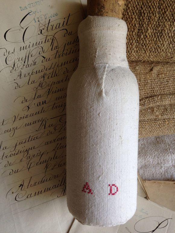 Linen Covered Bottle
