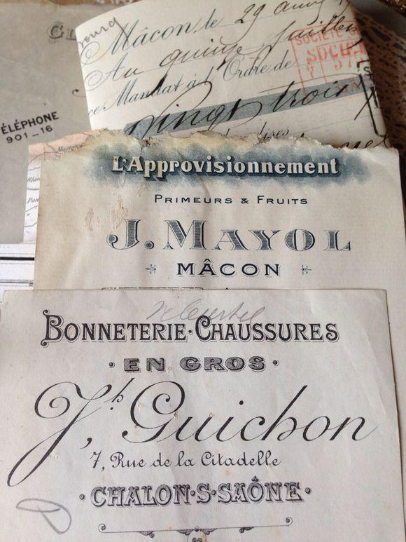 French Antique Ephemera Bundles