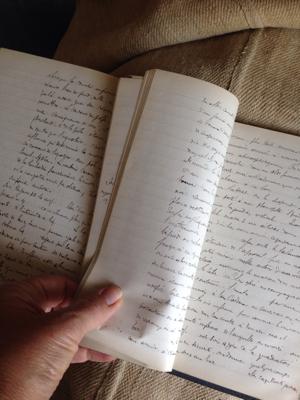Handwritten French Book 1878 Physique