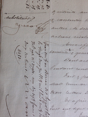 1853 French Document