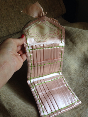 Handmade Silk Sewing Purse