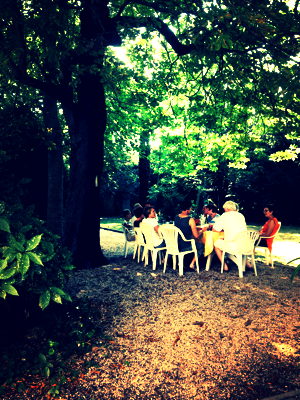 Provencal Lunch Under the Chestnut Tree