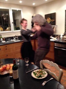 Dish dancing partner