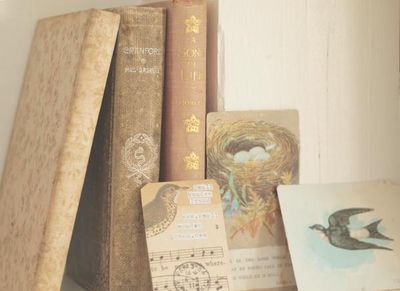 Old books ephemera, small meadow press