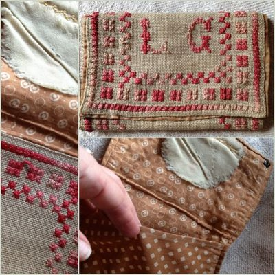 Monogram sewing purse