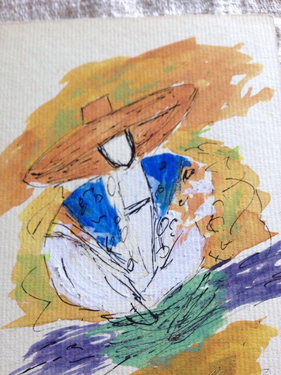 Painting Straw Hat