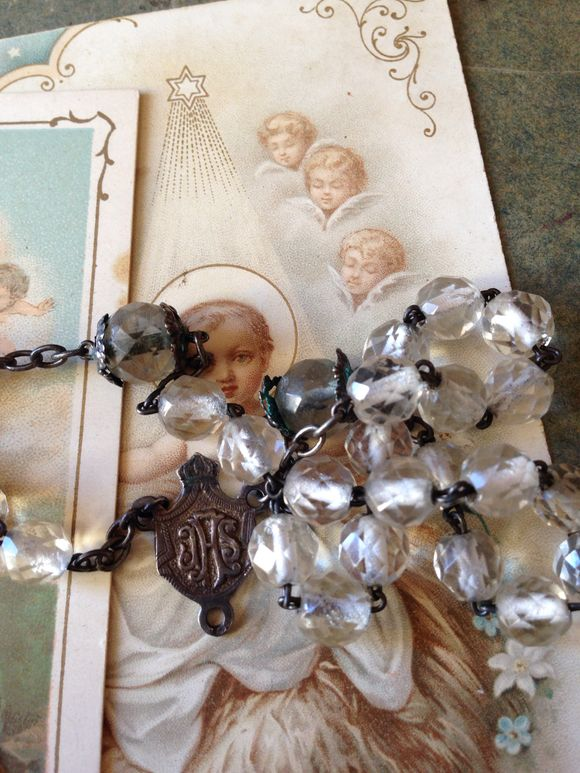 Rosary Elements, Silver Puff Heart
