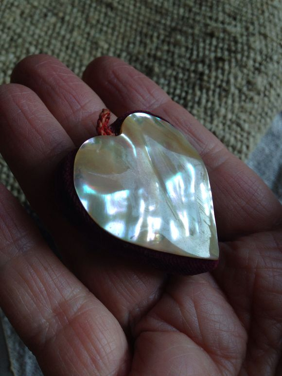Mother of Pearl Heart Pin Cushion