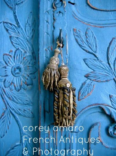 Blue armoire door corey amaro antiques and photography