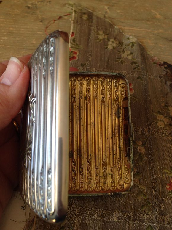 Silver Plated calling Card Box