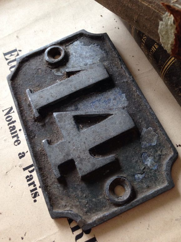 French Brocante online House Number Plate
