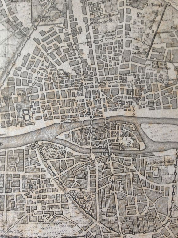 Map of Paris 1828