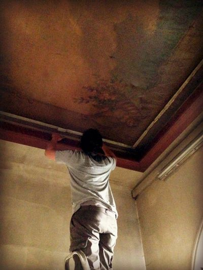 Painted ceiling 1800s