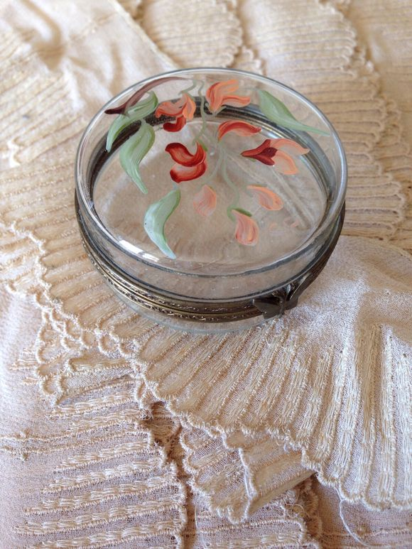 Glass Trinket Box