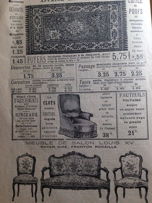 What You Could Buy in Paris in 1899