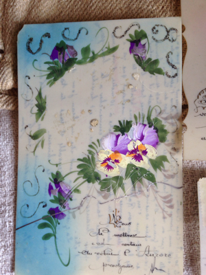 Three Hand Painted Postcards