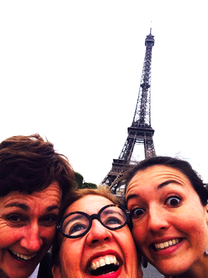 Bicycling to the Eiffel Tower