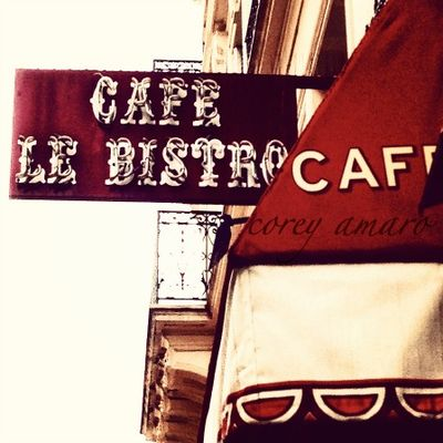 Paris cafe bistro