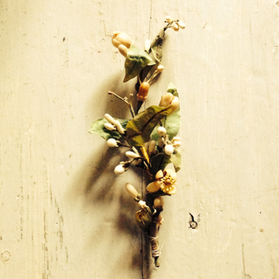 French Orange Blossom Wreath Fragment
