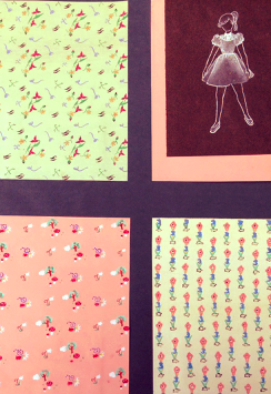 French 1950s Children's Hand Painted Patterns